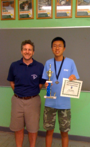 Evan Zheng with Coach, Cornelius Rubsamen