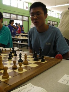 Evan Zheng 2012 Hawaii High School Chess Champion
