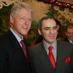 Former President Clinton with Garry Kasparov
