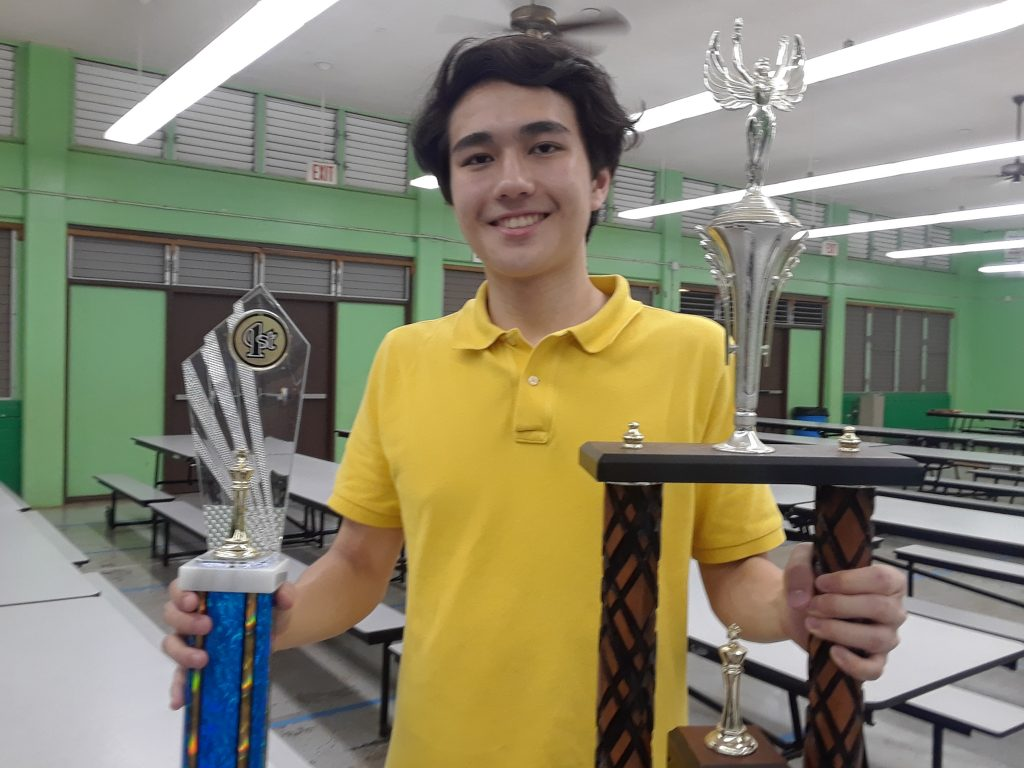 Liam Riley - 2018 Hawaii State Scholastic Chess Champion