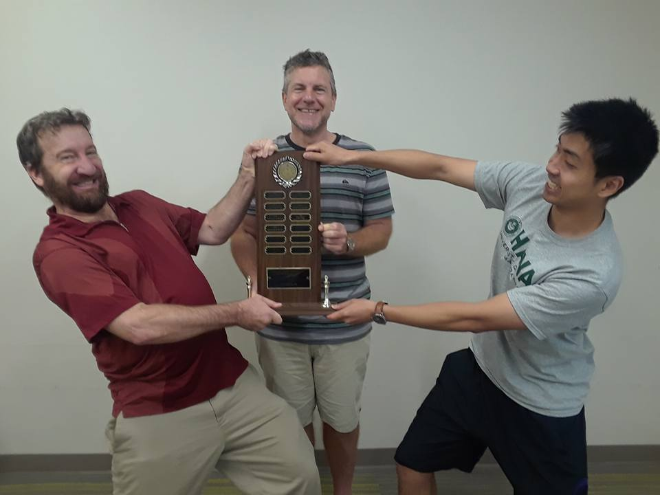 2018 Hawaii Chess Champions - Damian Nash, Cornelius Rubsamen and Michael Omori